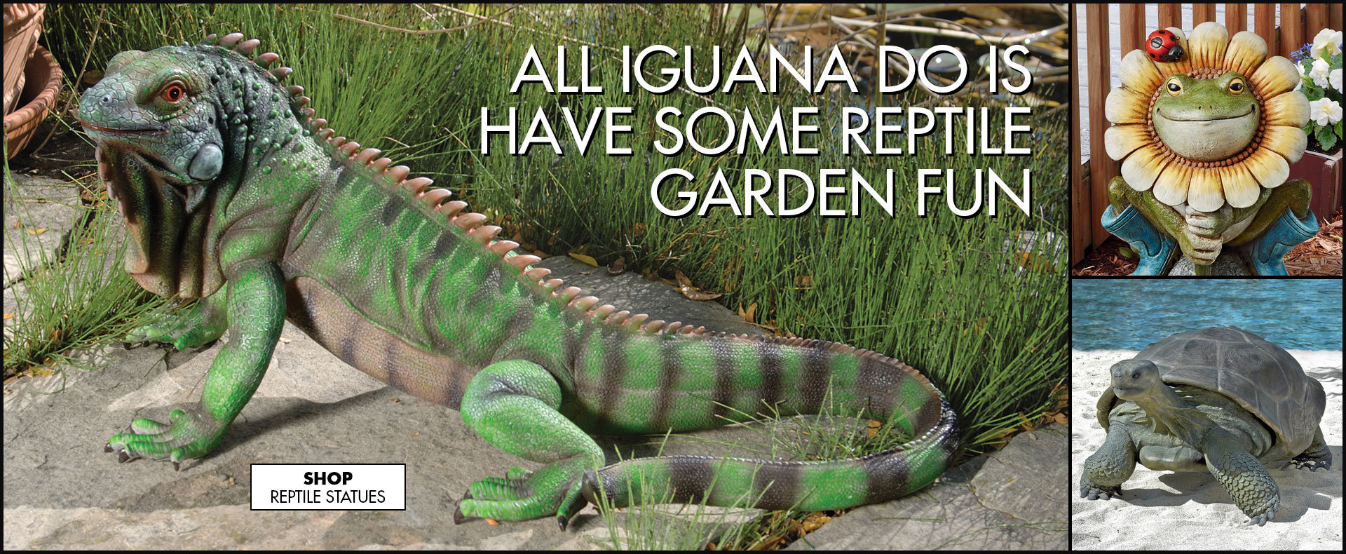 Link to shop Home - GARDEN - Animal Statues - Reptile Statues - Design Toscano