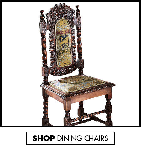 Link to shop Solid Wood Dining Chairs - Upholstered Armchairs - Design Toscano - Design Toscano