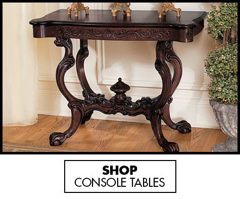 Link to shop Marble Top Entry Tables, Console Tables, Foyer Tables - Design Toscano