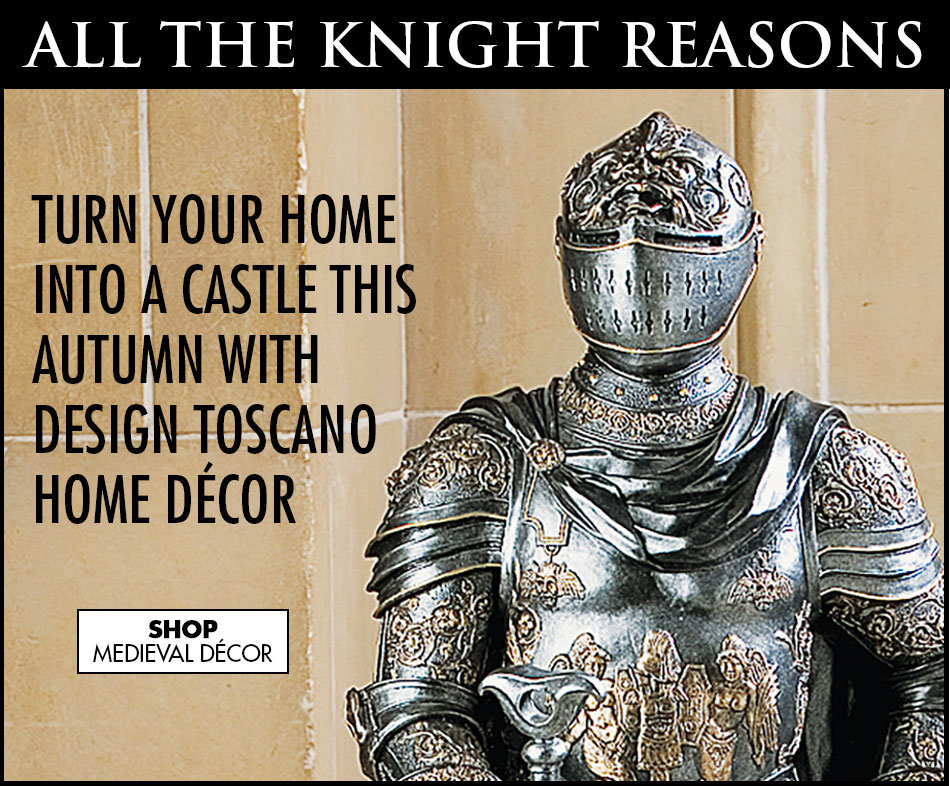Link to shop Medieval Statues, Home Accents, Wall Décor, and Furniture - Design Toscano