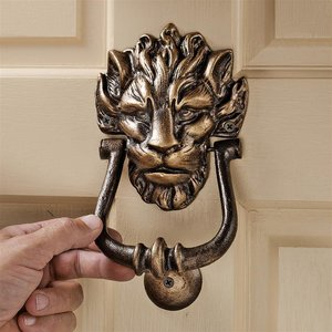 10 Downing Street Lion Authentic Foundry Iron Door Knockers