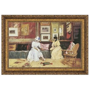 A Friendly Call 1895: Canvas Replica Painting: Small