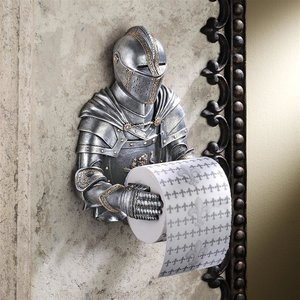 A Kinght to Remember Gothic Bath Tissue Holder