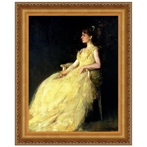A Lady in Yellow, 1888: Canvas Replica Painting: Medium