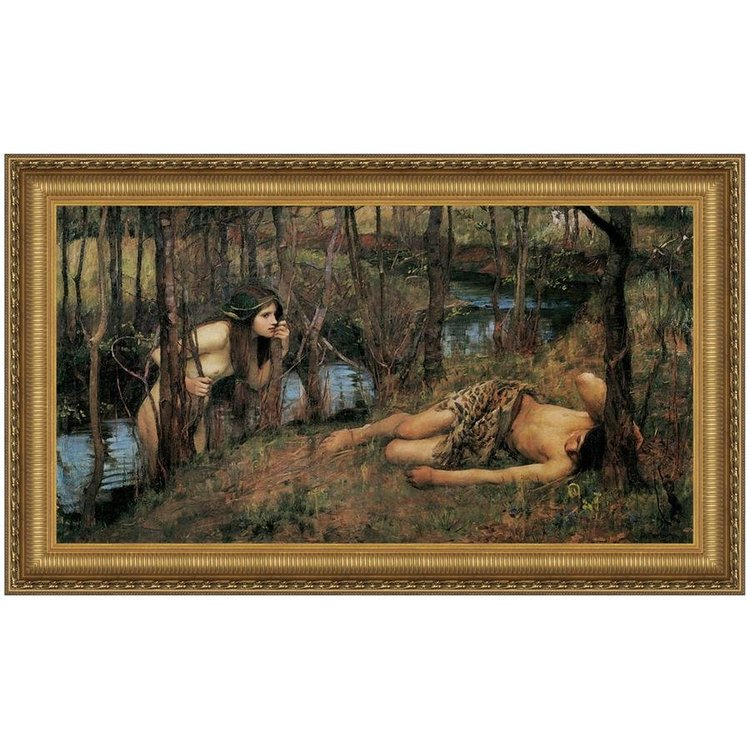 View larger image of A Naiad, 1905: Canvas Replica Painting