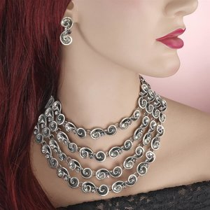 A Night on the Town Necklace and Earrings Ensemble