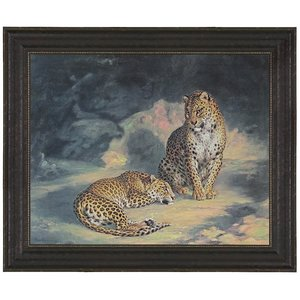 A Pair of Leopards, 1845: Canvas Replica Painting: Grande