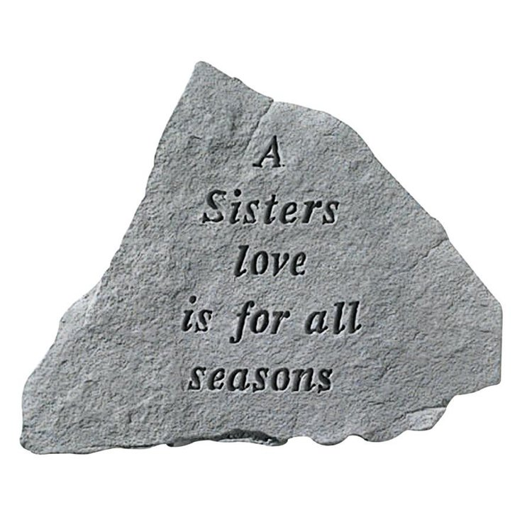 View larger image of A Sisters Love: Cast Stone Memorial Garden Marker