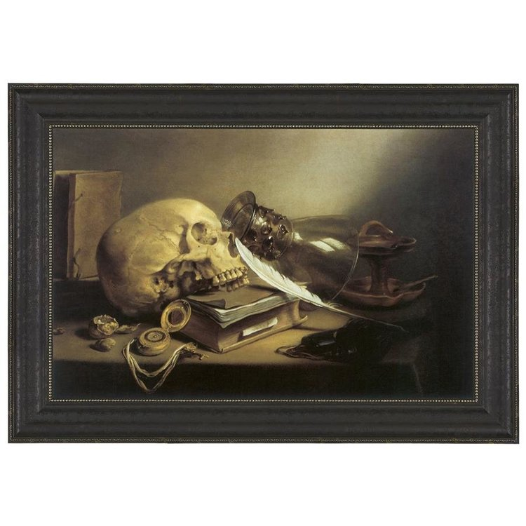 View larger image of A Vanitas Still Life, 1645: Canvas Replica Painting: Grande