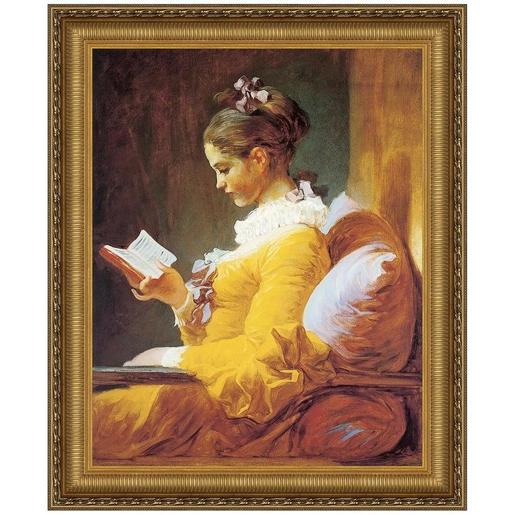 View larger image of A Young Girl Reading, 1770-72: Canvas Replica Painting