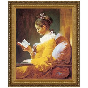 A Young Girl Reading, 1770-72: Canvas Replica Painting: Small