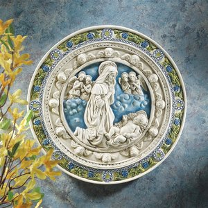 Adoration of the Child Roundel Wall Sculpture