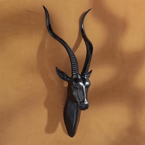 African Antelope Wall Mounted Trophy Statues