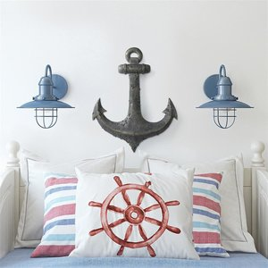 Ahoy There Maritime Anchor Wall Sculpture