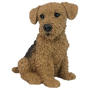 Airedale Puppy Dog Statue