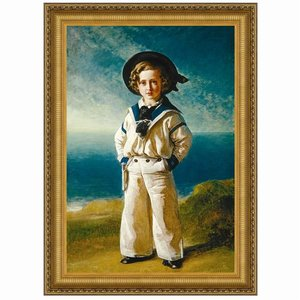 Albert Edward, Prince of Wales, 1846: Canvas Replica Painting: Small