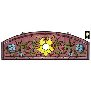 Ambrosia Demi-Lune Tiffany-Style Stained Glass Window