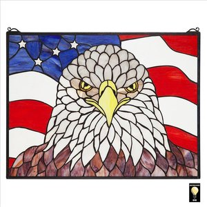 American Patriots Bald Eagle Stained Glass