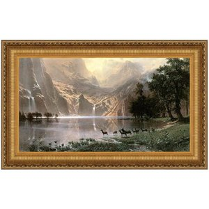 Among the Sierra Nevada, 1868: Canvas Replica Painting: Small