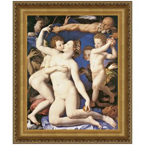 An Allegory with Venus and Cupid, 1545, Canvas Replica Painting: Small