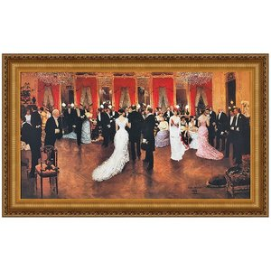 An Evening Soiree Canvas Replica Painting: Large