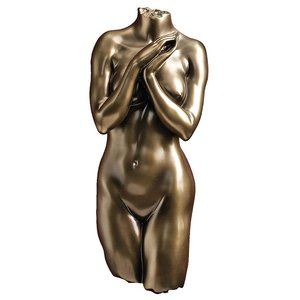 Anatomical Decipher Nude Torso Wall Sculptures by Kaleb Marytn (b. 1960): Female