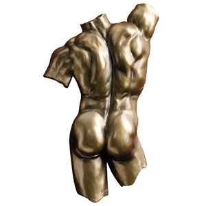 Anatomical Decipher Nude Torso Wall Sculptures by Kaleb Marytn (b. 196): Male