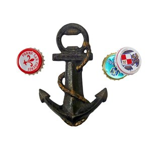 Anchors Aweigh Cast Iron Bottle Opener: Set of Two