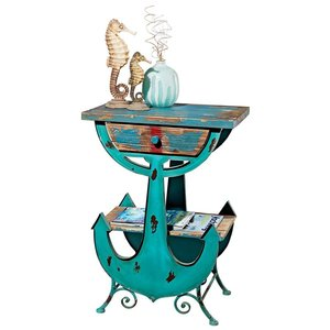 Anchors Aweigh Vintage Coastal Side Table
