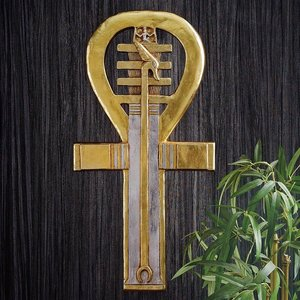 Ancient Ankh Egyptian Wall Sculpture