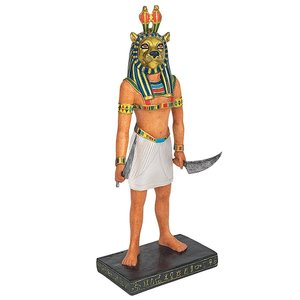 Mahes the Egyptian Lion God of War Statue