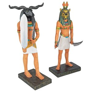 Ancient Egyptian Gods Statue Collection: Khnum & Mahes