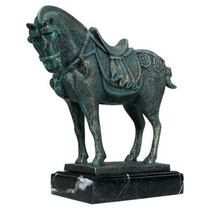 Ancient Tang Horse Iron Statue