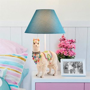 Andes Alpaca of Rainbow Mountain Sculptural Table Lamp