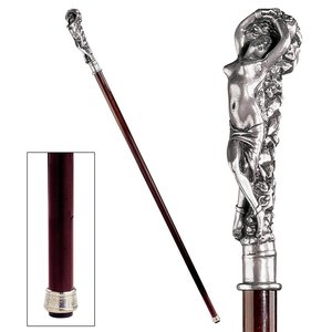 The Padrone Collection: Andromeda Pewter Walking Stick