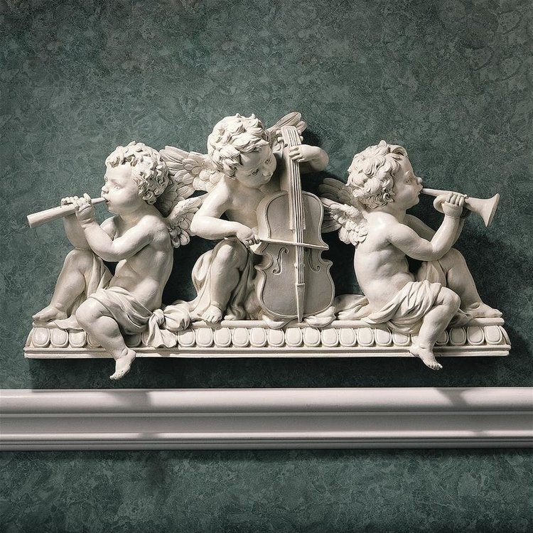View larger image of Angelic Notes Sculptural Wall Pediment