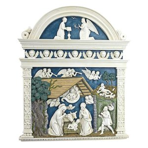 Angels Harkening the Birth of Christ s Nativity by Della Robbia Wall Sculpture