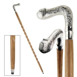 Empress Collection: Sly Cat Solid Hardwood Walking Stick