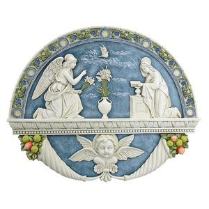 The Annunciation to the Virgin Mary by Della Robbia Wall Sculpture
