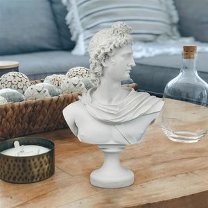 Apollo Belvedere Bonded Marble Resin Bust Statue