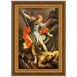 Archangel St. Michael Canvas Replica Painting: Small