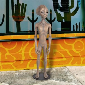 Area 51 Extraterrestrial Outer Space Alien Statue