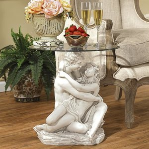 Arms Romance Glass Topped Table
