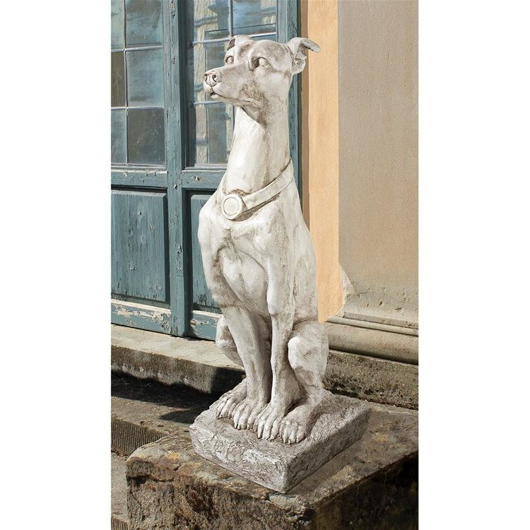 View larger image of Art Deco Whippet Greyhound Sentinel Dog Statue