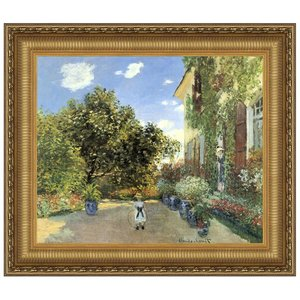 Artist's House at Argenteuil, 1873: Canvas Replica Painting: Medium