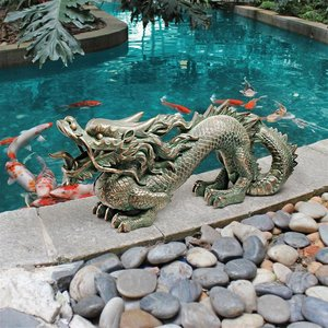 Asian Dragon of the Great Wall Statue: Medium