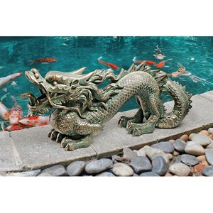 Asian Dragon of the Great Wall Statues