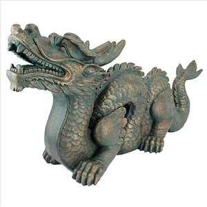 Asian Dragon of the Great Wall Statue: Large