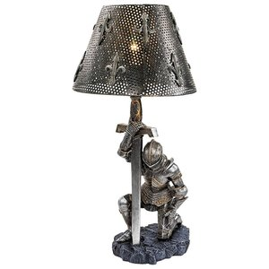 At Battles End Medieval Knight Lamp