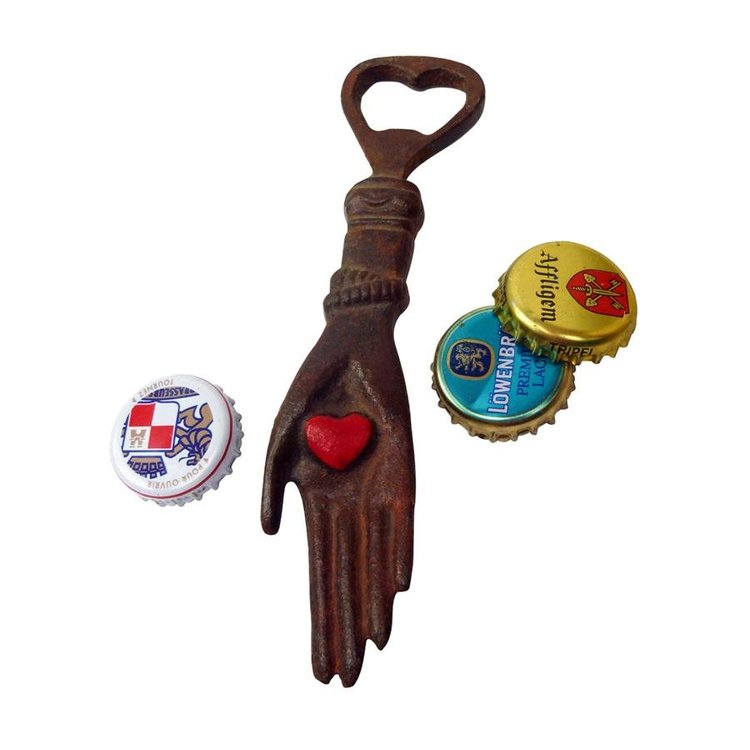 View larger image of Heart in Hand Cast Iron Bottle Opener